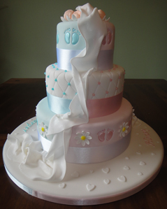 Christening Cake Designs For Twins : VHCakes - Christening Cake for Twins